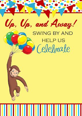 ...The Fast Lane! ♥: {Freebie Friday} - Curious George Invitation