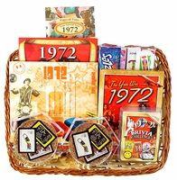 40th anniversary gift basket (similar idea for birthday??)The 70s ...
