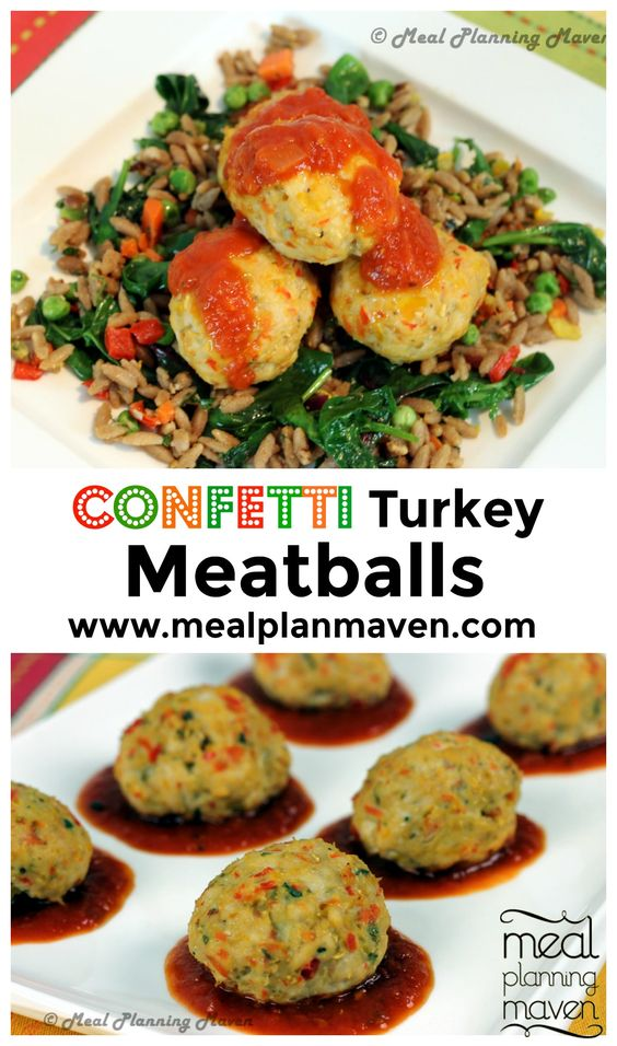 Confetti Turkey Meatballs l Meal Planning Maven's Blog l Everyone loves a good…