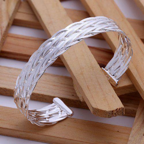 DUMAN Fashion Jewelry 925 Silver Plated Bangle We ($10.96)