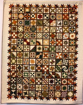 Samplers are usually not my favorites, but this is a beauty.  Border helps set the tone and movement.