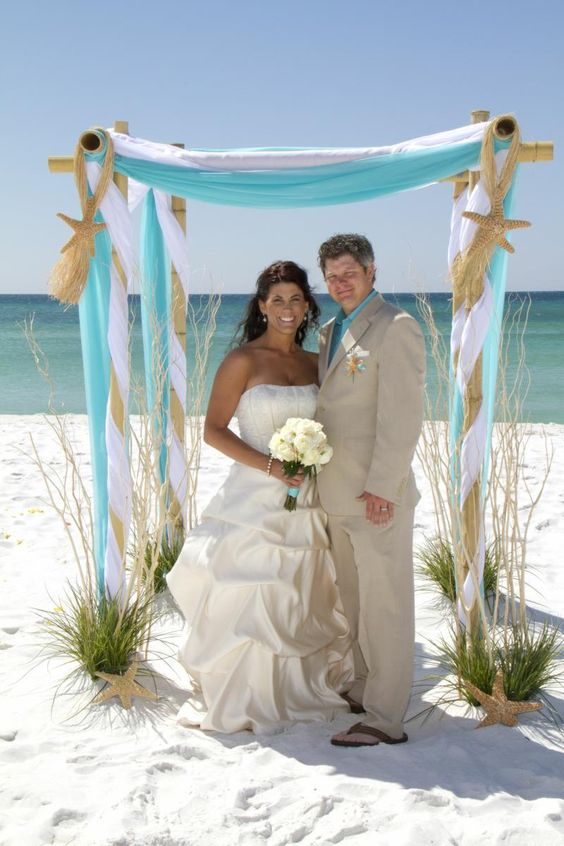 beach wedding canopy with chandelier - Google Search