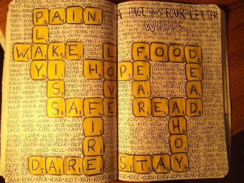 cool 4 letter words 2 wreck this journal letters and scrabble on 643