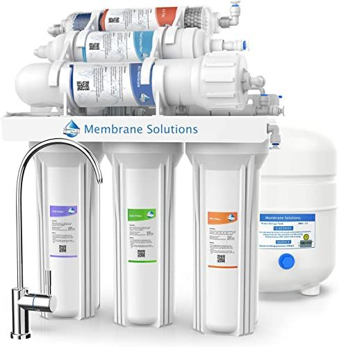 The Under Sink 6 Stage Alkaline Remineralization Water Filter System Membrane Solutions Reverse Osmosis System Purifier Alkaline Drinking Water Filtration Set In 2020 Under Sink Water Filter Sink Water Filter Water Filters System