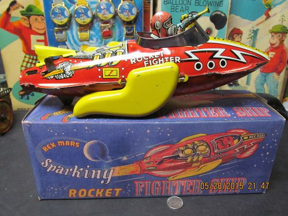 Rex Mars Rocket Fighter SHIP Marx Great Britain Repro Box Works EXC Scarce Toy | eBay