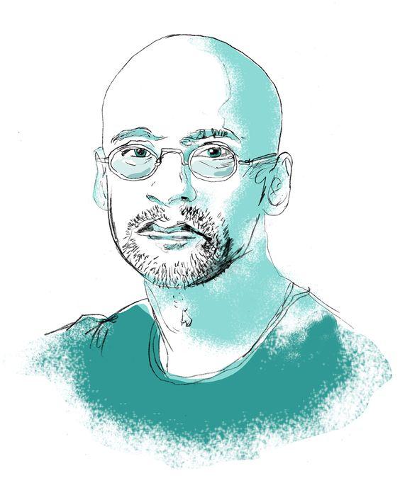 @junotdiaz sketch de Keith Henry Brown Pineado a nuestro tablero #Escritores en pinterest.com/suburnanonet