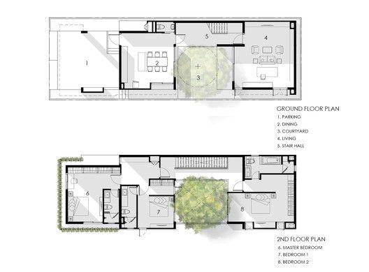 Gallery Of I House Gooseberry Design 1 Narrow House Plans Architectural Floor Plans Facade House