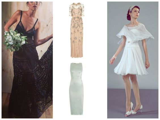Non traditional wedding gowns | A Playful + Pretty + Pertinent blog about weddings and marriage