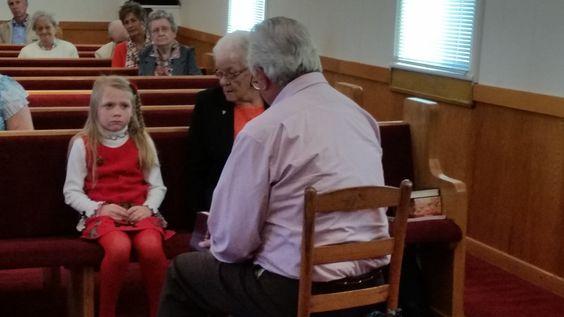 Children's sermon with Ella. Gerald & Grace, 10/19/14