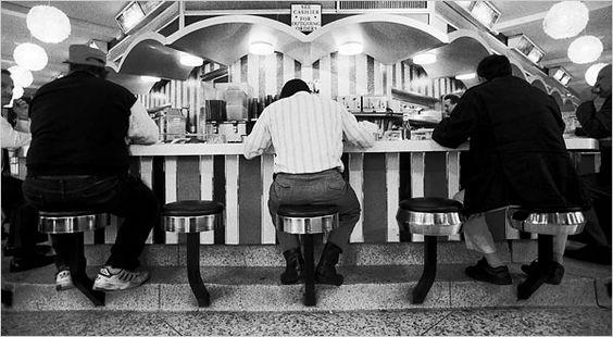 Image d'un #american #diner à New York #usconnection #vintage #usa