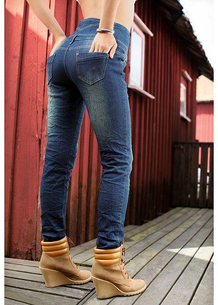 Jeanși cu talie înaltă Jeanși moderni • 149.9 lei •