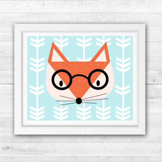 Fox Nursery Art by TLCSquared on Etsy