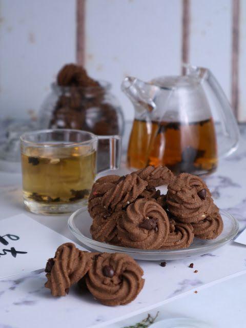 Dapur Miranti Semprit Maizena Coklat Kue Lezat Kue Kering Mentega Kukis Coklat