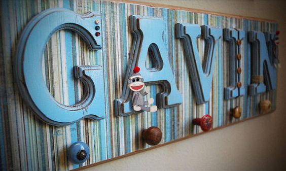 To Be, Hanging Wall Letters And Personalized Baby On Pinterest