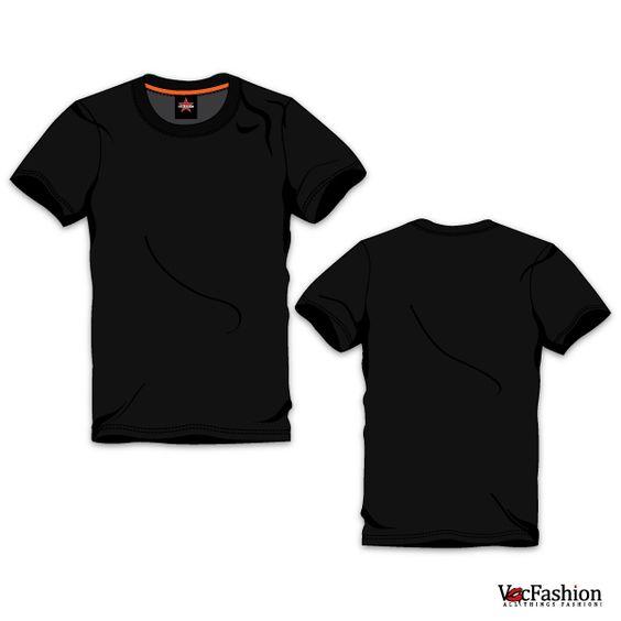 MenS Black Round Neck TShirt Vector Template  Fashion