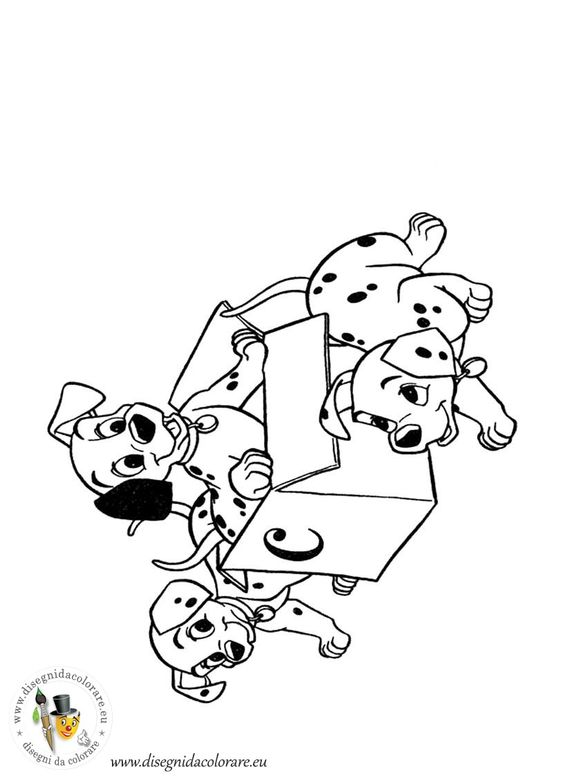 101 dalmata disegni da colorare dei cartoni for Cartoni animati da stampare e colorare