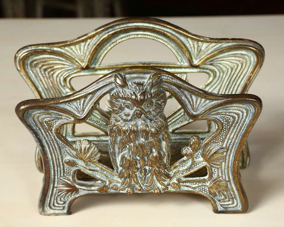 Owl Brass Letter Holder | From a unique collection of antique and modern desk accessories at http://www.1stdibs.com/furniture/more-furniture-collectibles/desk-accessories/