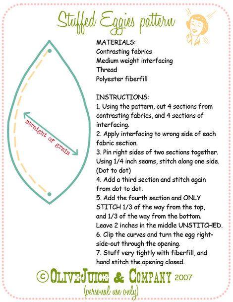 Eggtutorial_2- pattern for fabric egg | Easter | Pinterest | Shape ...