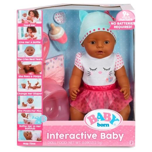 Brown Eyes Little Mommy Drink /& Wet Doll FREE 2 day Ship