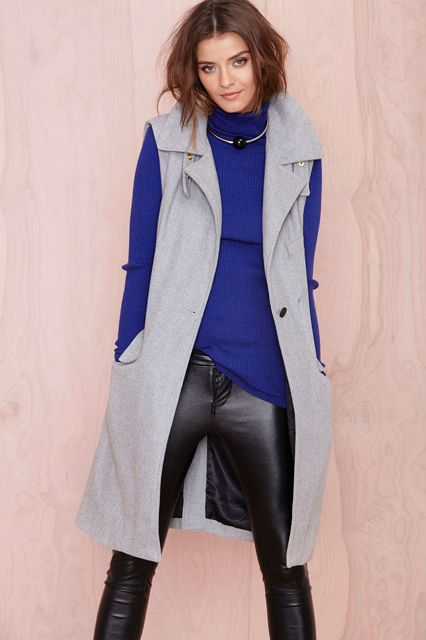 The Sleek Fall Staple You Can Start Wearing Now #refinery29 http://www.refinery29.com/long-vests-fall#slide13: