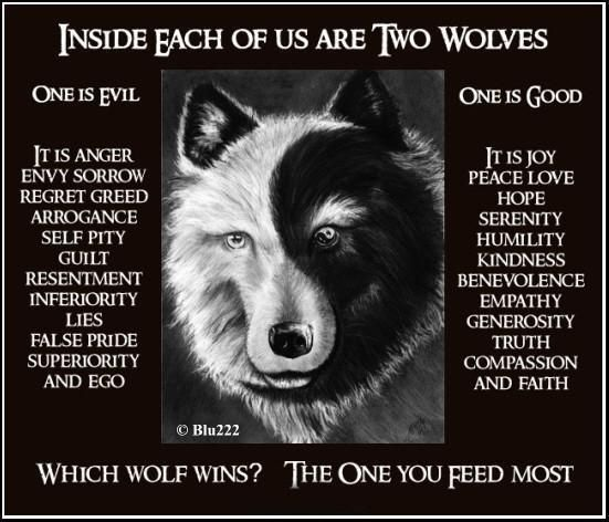 Inside Each Of Us Are Two Wolves