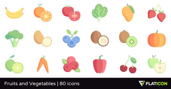 80 Free Vector Icons Of Fruits And Vegetables Designed By Freepik