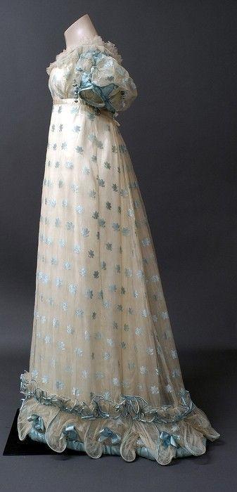 1821. I Love the detail on the hem; gorgeous.