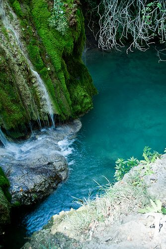 Krushuna Falls, Bulgaria. Krushuna waterfalls (Maarata) are located near the village of Krushuna, Letnitsa municipality, Lovech. They are famous with their picturesque landscape and are formed by many travertines.