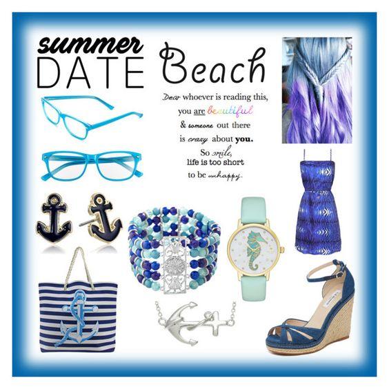 """Summer Date: The Beach!"" by enchantedarticgem ❤ liked on Polyvore featuring Corinne McCormack, L.K.Bennett, Kate Spade, Napier, Avenue, La Preciosa, beach and summerdate"