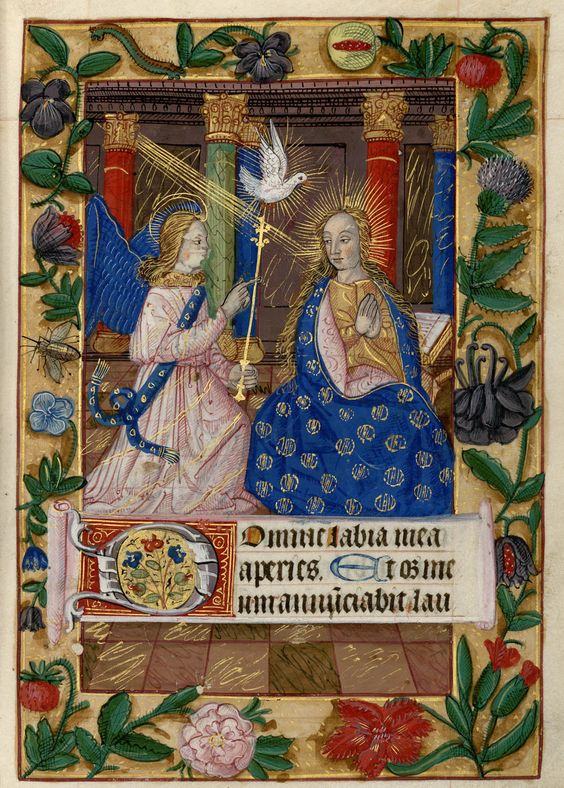 """Heure de Notre-Dame de Pitié ; """"Annonciation"""" (1401-1500). Bibliothèque-médiathèque de Nancy, Ms 305"""
