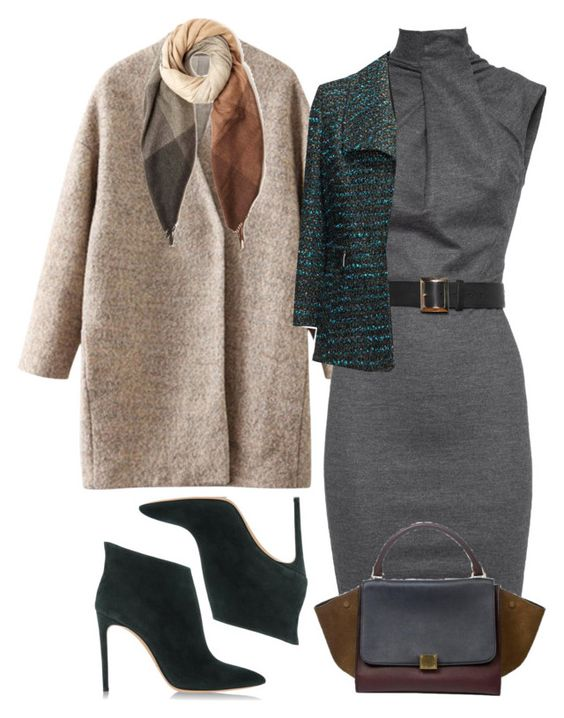 """""""Winter Office Outfit For Hourglasses 3"""" by yoyostyle ❤ liked on Polyvore featuring Dsquared2, navabi, Casadei, Paul Smith, fashiontips and StyleTips"""