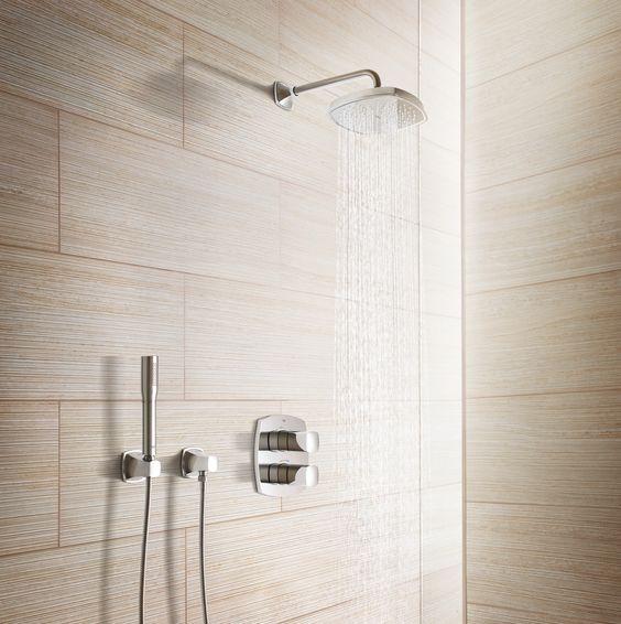 grohe grandera shower system zestaw podtynkowy bateria podtynkowa natryskowa deszczownica show unit pinterest shower systems bath and bathroom - Regendusche Grohe