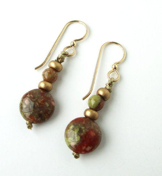 Autumn Jasper Earrings by ccreechstudio on Etsy, $22.00