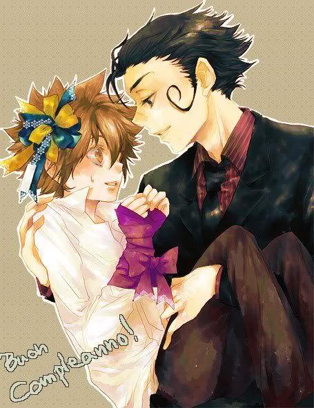 家庭教師ヒットマンのREBORNにお姫様抱っこされるツナ