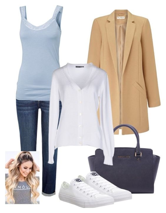 """""""Well, why not?! :D"""" by bexs205 ❤ liked on Polyvore featuring River Island, Fat Face, Miss Selfridge, MICHAEL Michael Kors, Aida Barni and Converse"""