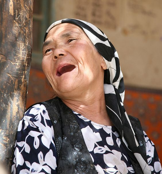Laughing Elderly Woman Portraits of Old Age on my Travels Khotan (Hotan) China by eriagn, via Flickr