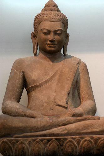Mon Dvaravati Stone Buddha