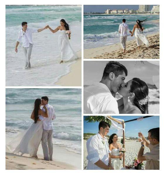 Casamento em Cancun! Reservado, somente o casal, sem família e amigos. Casamento econômico já que não se tem gastos com festa, bufê, convites e essa infinidade de detalhes que já conhecemos. Para os casais mais reservados, perfeito!