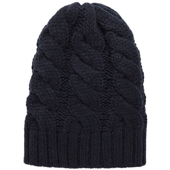 Knit Beanie ($28) ❤ liked on Polyvore