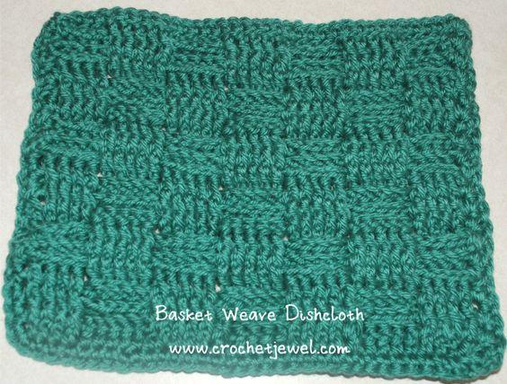 Crochet Basket Weave Dishcloth ~ free pattern PotHolders ...