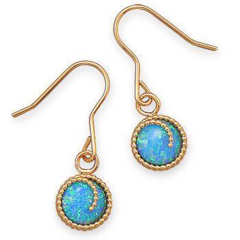 12/20 Gold Filled Blue Opal Earrings
