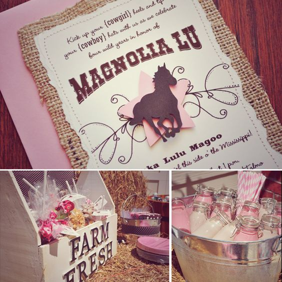 """I can't wait to have a little girl. Just so I can throw her a """"cowgirl"""" birthday party :)"""