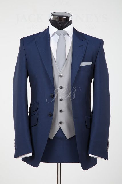 The York, blue wedding suit hire from Jack Bunneys... I love the idea of a blue suit instead of black, tan or grey, for the groom and groomsmen