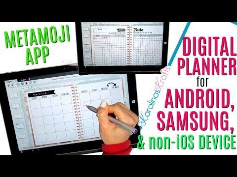 How to use a DIGITAL PLANNER for ANDROID, Using a Digital
