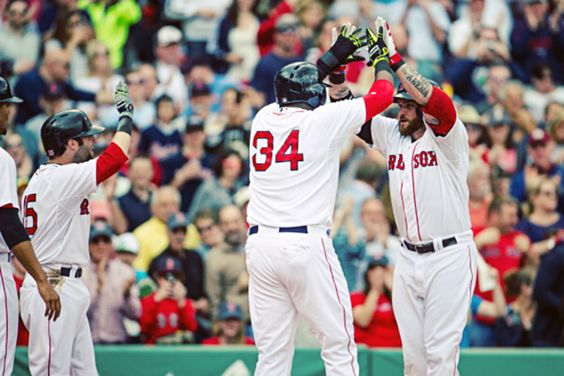 5/3/2014 at Fenway Park | David Ortiz homer, Jon Lester struck out 15, Jonny Gomes' grand slam all offense Boston needed (Photo by Rob Tringali/SportsChrome/Getty Images)