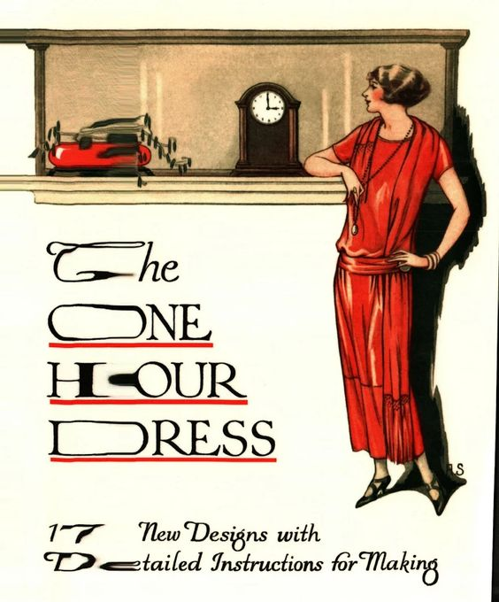 The One Hour Dress with Detailed Instructions or Making. 1920s