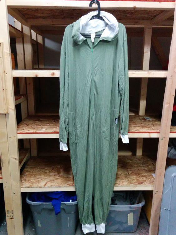Army Green Onesie Waffle Underwear - Full Thug (L)