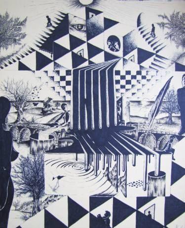 "Saatchi Art Artist Alan Silveira; Drawing, ""From the Light to the Light"" #art"