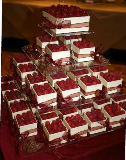 Amei essa simulação de caixotes de morangos (aqui acho que são framboesas)