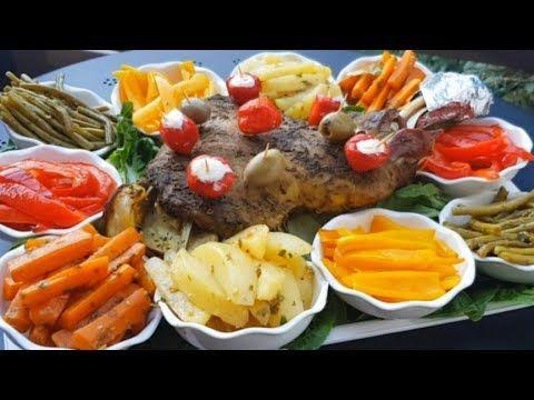 كتف الخروف في الفرن طايب زبدة مرافق بالخضروات مقبلات متنوعة اطباق عيد الاضحى2020 Youtube